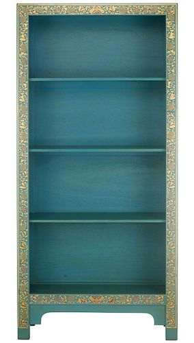 Blue and Gilt Bookcase